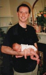 2002 - Proud new dad
