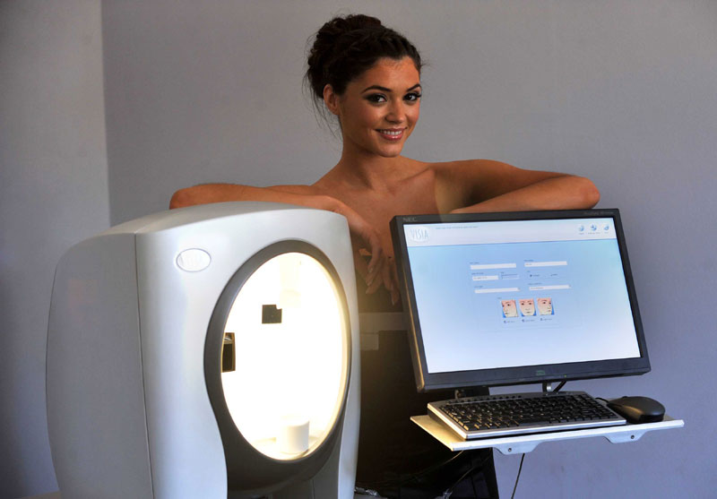 Miss Scotland Nicola Mimnagh helps launch the Sculpta Clinic in Glasgow's West End. The clinic is Scotland's newest and most innovative cosmetic practice, offering a one stop shop for cosmetic treatments including Visia facial scanning and Vaser liposuction.