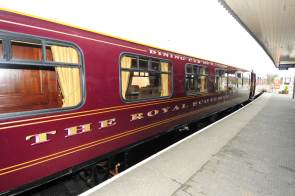 The restored Swift carriage is now part of the luxurious Royal Scotsman train