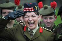 Lorraine Kelly salute and huge smile