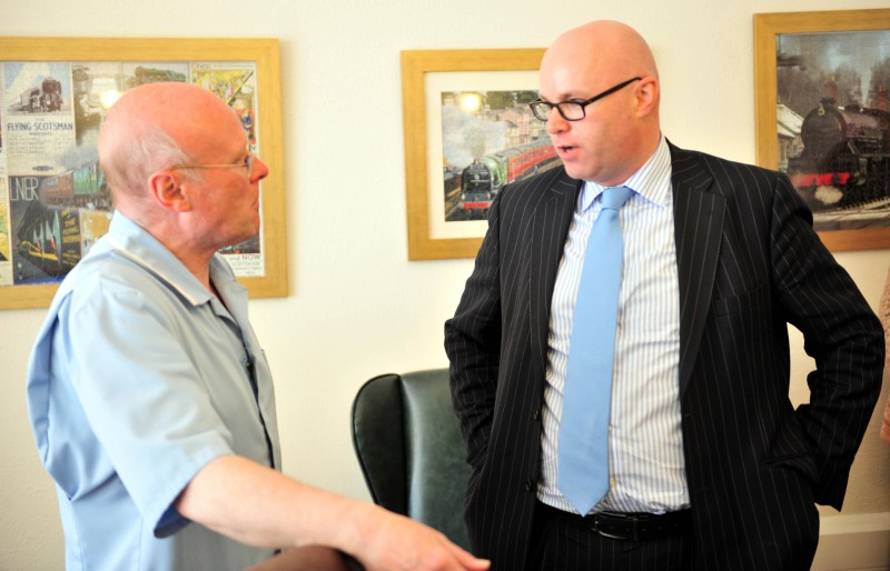 Paul Edie, Chair of the Care Inspectorate, meets staff at Astley House
