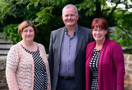 Annette Bruton of the Care Inspectorate with Joan McGregor and Colin Corstorphine, directors of Fairfield Care Scotlalnd, which owns Astley House