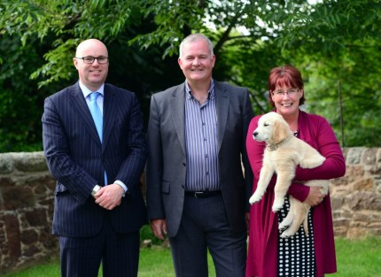 Paul Edie, Chair of the Care Inspectorate with Joan McGregor and Colin Corstorphine, directors of Fairfield Care Scotlalnd, which owns Astley House