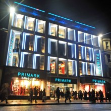 Public relations shot for the launch of flagship Scottish Primark store