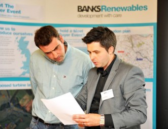 Edinburgh PR agency provides public relations photography for Banks Renewables