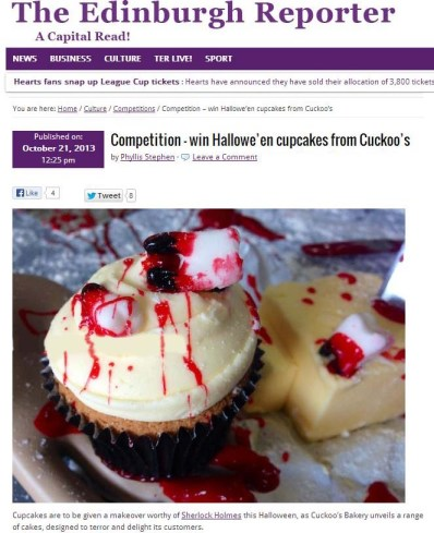 Cuckoo's Bakery in The Edinburgh Reporter
