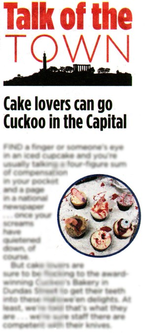 Cuckoo's Bakery has been featured in Edinburgh Evening News