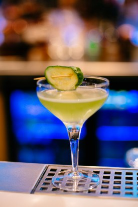 The bar is currently serving three 'grow your own cocktails' including the gin based Cucumber and Mint Martini, a vodka infused Blueberry and Basil concoction and the indulgent Pear and Rosemary Sparkle, topped with a splash of prosecco.