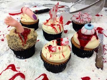 Food and drink PR photography Six Scary Cupcakes from Cuckoo's Bakery