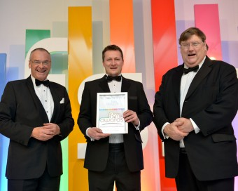 Ben Harrison who works for Sodexo Prestige at RBGE wins FSM Award