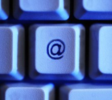 An image of the @ key on a keyboard to illustrate a story about online scammers