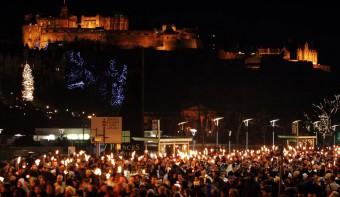 More torchlight procession