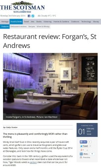 Scotsman coverage- Forgan's review