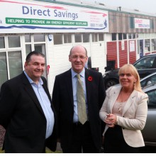 Deputy First Minister John Swinney at a PR campaign event for Direct Savings