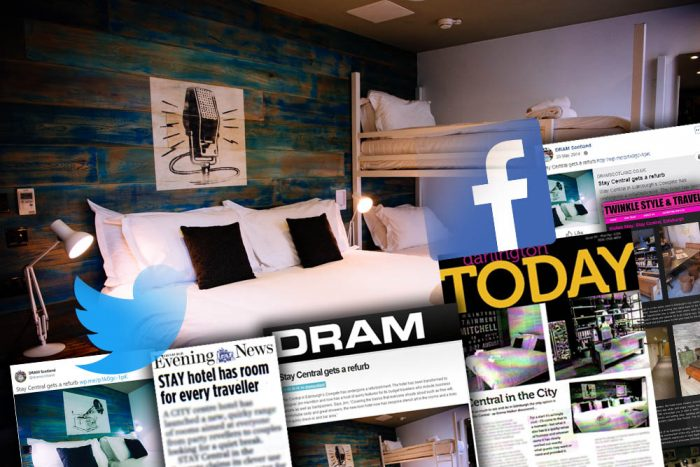 Media coverage achieved by Edinburgh Hotel PR agency on the makeover of city centre spot - Stay Central