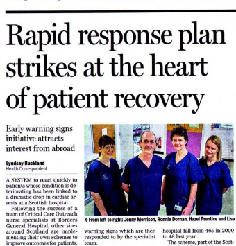 The Scotsman Borders General Hospital Coverage