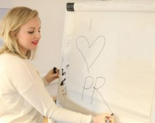 I love Pr written on whiteboard by Victoria Ancell