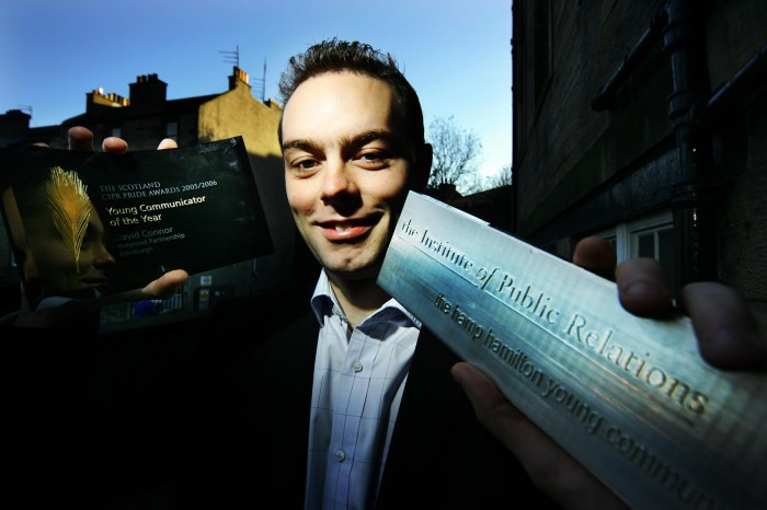 David Connor of PR agency Holyrood PR was named Scotland's outstanding young Communictor at the 2006 PRide PR awards