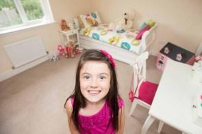 Daughter in her bedroom