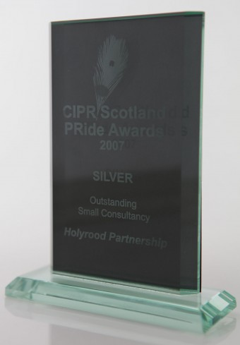 PR agency Holyrood Partnership collected silver in the PR Award for Outstanding Small Consultancy in 2007