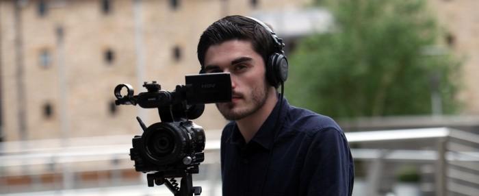 Camera man shooting video