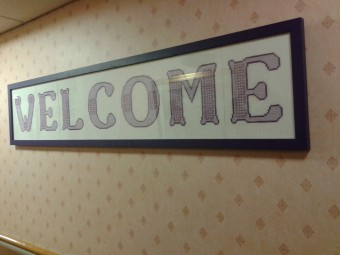 picture of welcome sign at gillie court bield