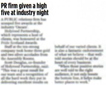 17 OCT Edinburgh Evening News PG 16 CROP blur to use