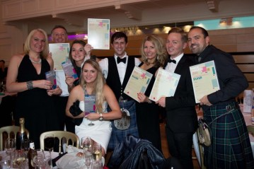 Award winnning Scottish PR agency Holyrood PR team won five PR Awards in 2014