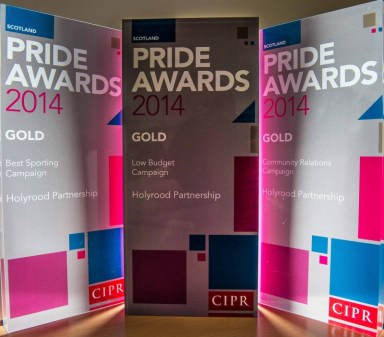 Award winning public relations agency in Edinburgh, Scotland celebrates winning five PR awards in 2014