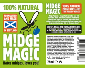 Midge repellent label photo for IIP