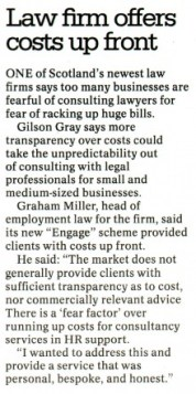PR in Edinburgh legal client