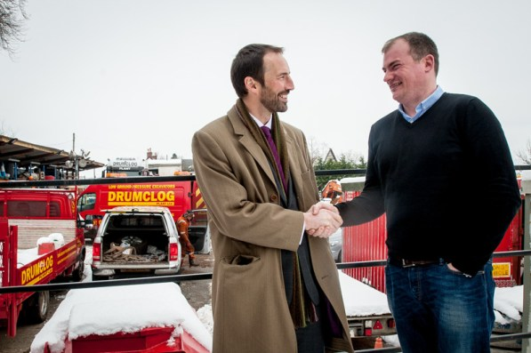 Colin Anderson with Ewan Turner of Drumclog Plant Ltd,