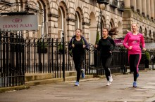 PR photographs taken by Edinburgh public relations photography service to capture hotel running club