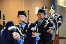 PR photography for Scottish Schools pipe band championship