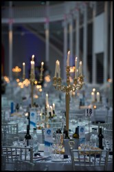 A candlelit table for food and drink pr story