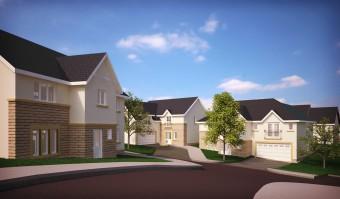 CGI of how CALA Homes development at Riccarton Road, Currie, Edinburgh