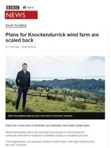 BBC media coverage of knockendurrick