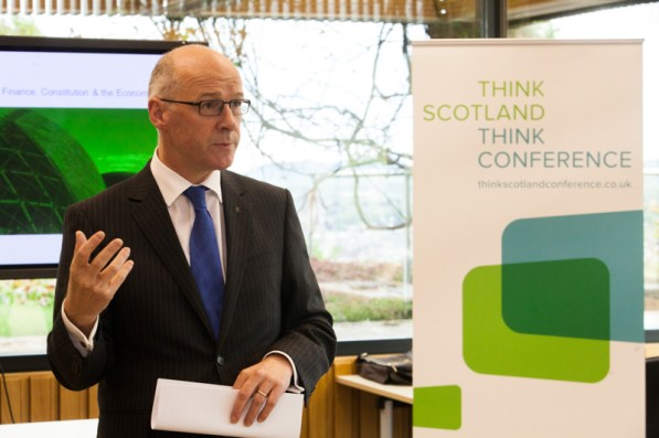 MSP for Perthshire North and Deputy First minister, John Swinney, comments on Scotland as a unique place to attract business and conference events, at the 'Think Scotland, Think Conference' event in Perth.