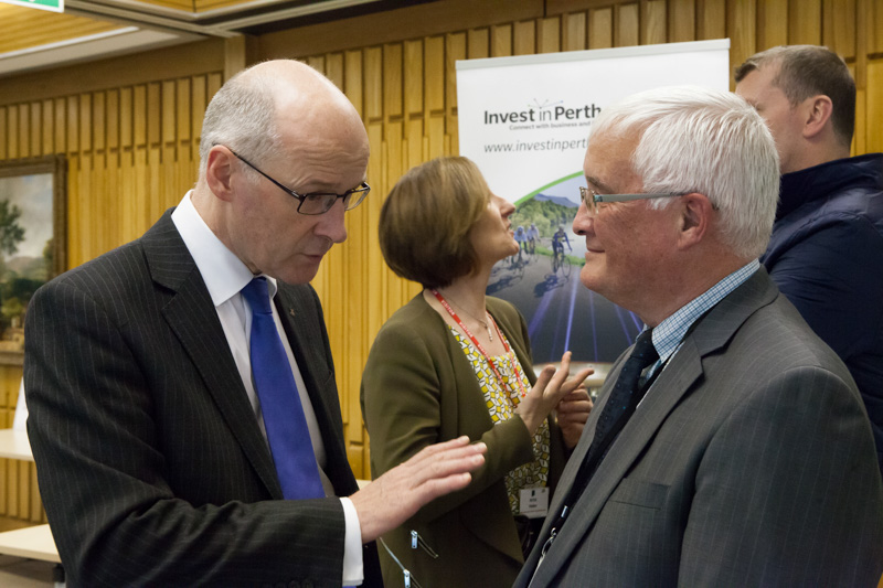 MSP for Perthshire North and Deputy First minister, John Swinney and Councillor John Kellas of Perth & Kinross Council attend the 'Think Scotland, Think Conference' event in Perth.