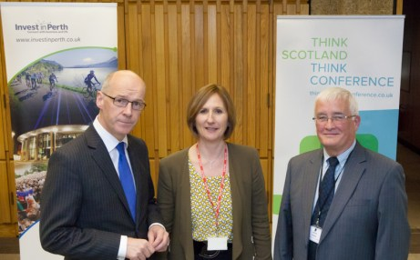 From Left to Right: MSP for Perthshire North John Swinney; Head of Business Torism for Scotland, Judy Rae; Councillor John Kellas of Perth & Kinross Council