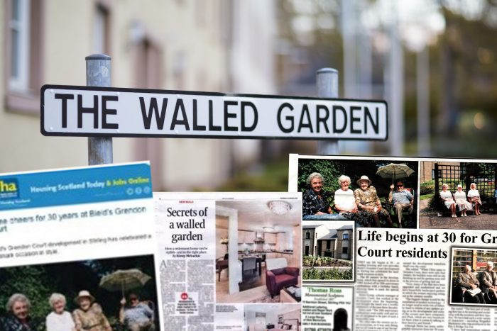 2016 coverage montage for pr success for bield walled gardens in care pr