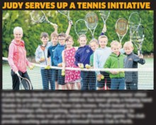 Holyrood PR in Edinburgh photocall with Judy Murray and Cala Homes client