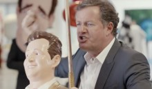 National Lottery tongue in cheek advert featuring Piers Morgan