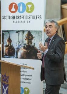 Scottish Craft Distillers event held at the Scottish Parliament. Tony Reeman-Clark, Chair of Scottish Craft Distillers Association , speaks at the event PIC PHIL WILKINSON info@philwilkinson.net www.philwilkinson.net 01316186373 - 07740444373