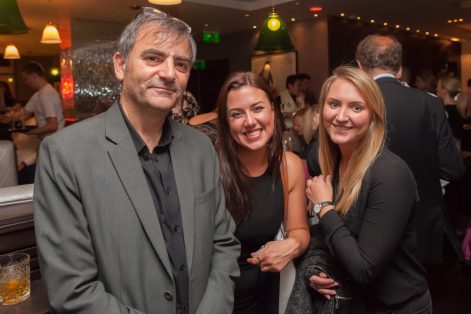 Hotel PR photograph of Rymond Notarangelo, Alicia Simpson and Sarah Fairley in Tigerlily, Edinburgh