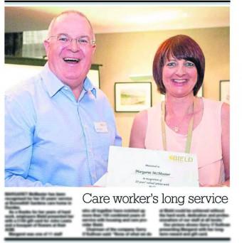23 OCT Evening Telegraph - Long service awards copy