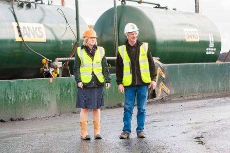 Hannah Bardell, MP for Livingston, visited the Banks Mining open cast site at Rusha, West Calder