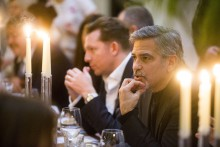 AN INVITE only five course lunch was held at George Street's top hotspots for Hollywood superstar George Clooney, as he visited Edinburgh.