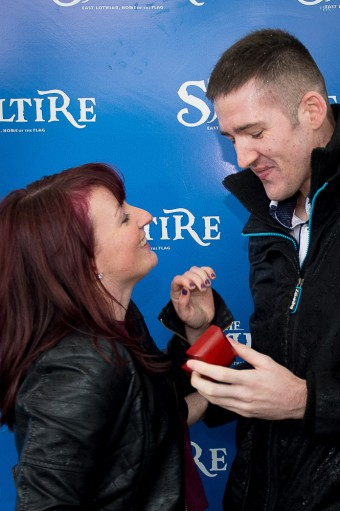 Wedding proposal at Musselburgh Racecourse