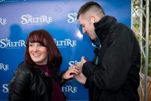 PR Photo of surprise wedding proposal at Musselburgh Racecourse, with help from public relations agency Holyrood PR